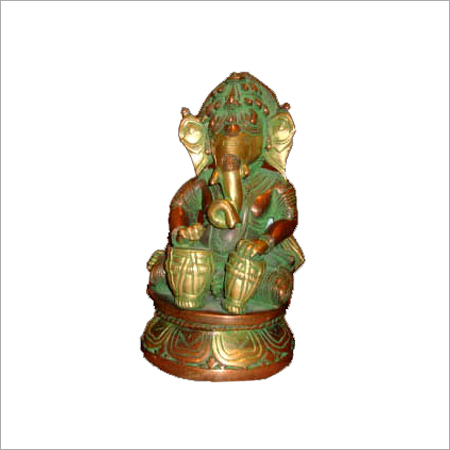 Bronze Ganesha with Tabla
