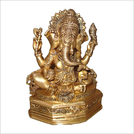 Ganesh Sitting in Round Base
