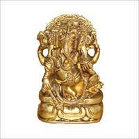 Lying Ganesh on Throne