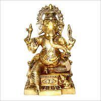 Finely Crafted Brass Ganesha