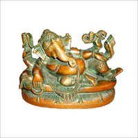Copper Lying Ganesh Statues