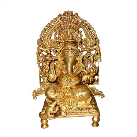Ganesh on Throne Statues