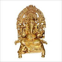 Ganesh on Throne Statues
