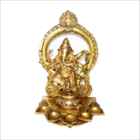 Ganesh 5 Diya Brass Statues