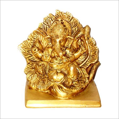 Brass Leaf Ganesh