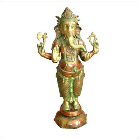 Durable Copper Standing Ganesh Statues