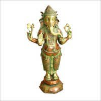 Copper Standing Ganesh Statues