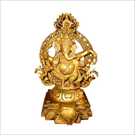 Ganesh Throne Relaxing Statues