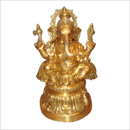 Ganesh Statue On Round Base
