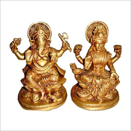 Laxmi Ganesh Bronze Statue