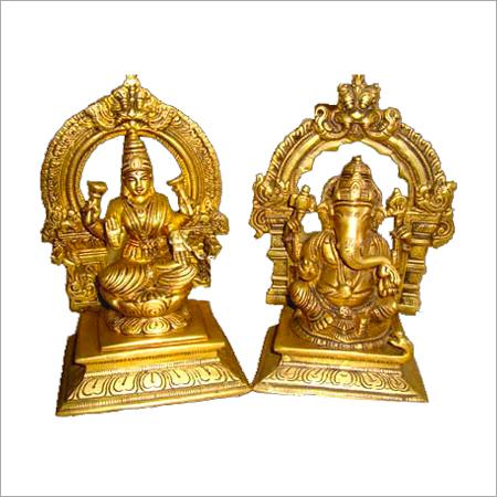 Religious Brass Lord Laxmi Ganesha Statue