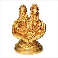 Laxmi Ganesh Sitting On Hand