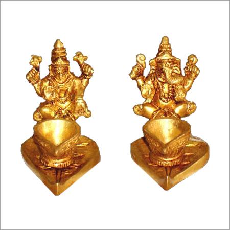 Laxmi Ganesh Diya Statue