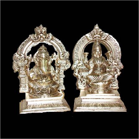 Silver Laxmi Ganesh Statues