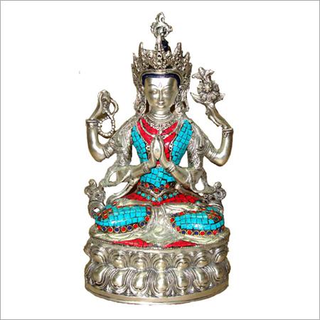 Stone Embedded Buddha Statue