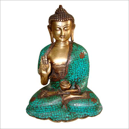 Sitting Stone Buddha Crafted