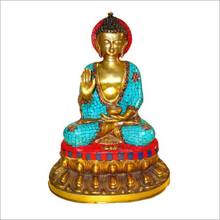 Sitting Buddha With Round Base