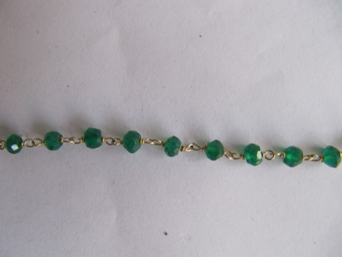 Vermeil Beaded Semi Precious Stone Chain