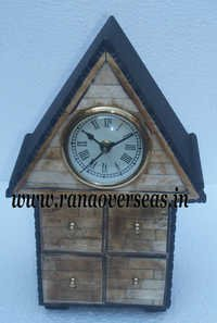 Table top Clock in Hut Shape.