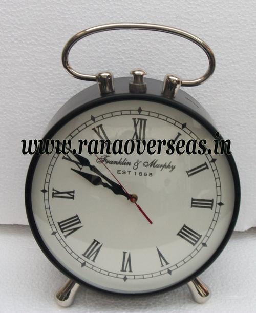 Iron Metal Table Top Clock