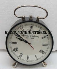 Iron Metal Table Top Clock