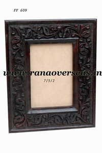 Wooden Carved Photo Frame In Mango Wood