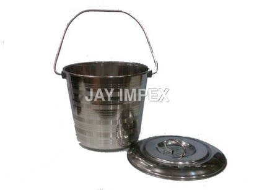 Sliver Stainless Steel Bucket