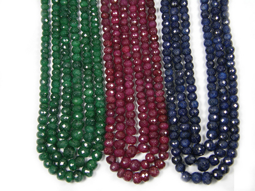Dyed Corundum Beads