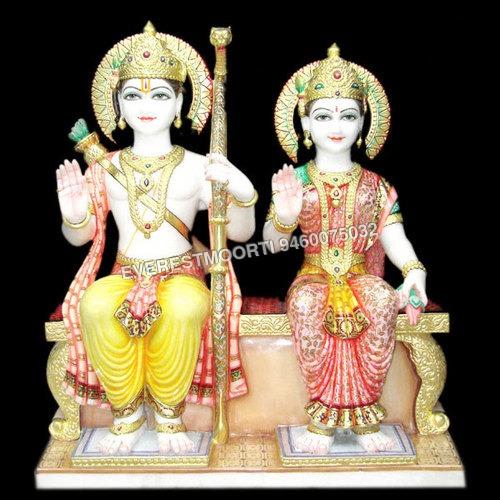 Marble Ram-Darbar Statues
