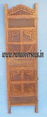 Wooden Carved Room Divider Partition Screen