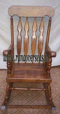 Sheesham Wood Rocking Chair.