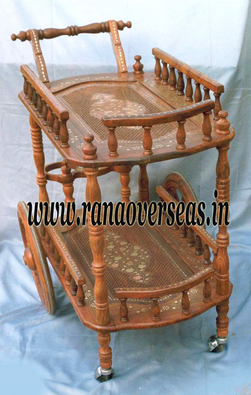 Wooden Serving Trolly