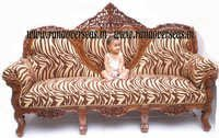 Wooden Carved Sofa Set.