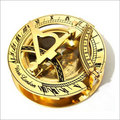 Brass Sundial Compass - Pocket Sundial