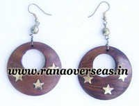 Wooden Ear Rings.