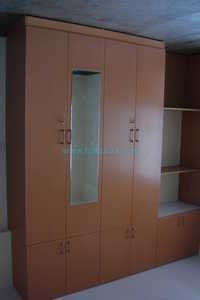Master Bedroom Wardrobe With Mirror  & Storages