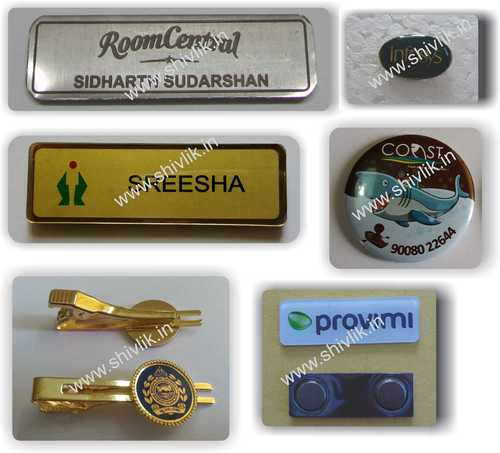 Clip Style Name Badges