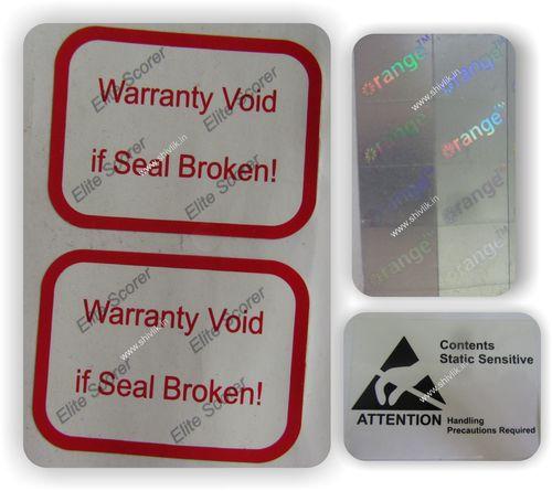 Warranty or Tamper Proof Labels