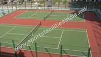 Wooden Tennis Court