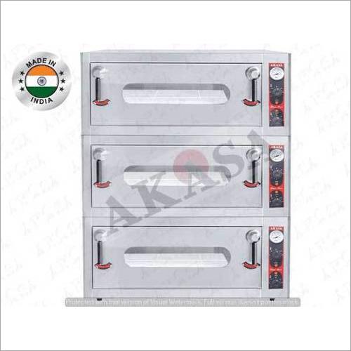 AKASA INDIAN ELECTRIC Triple Deck Stone Oven