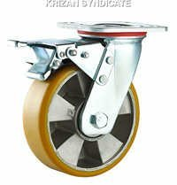 Aluminium Polyurethane caster wheel with double ba