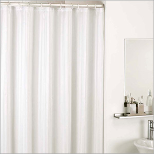 Plain White Shower Curtain
