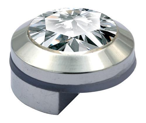 Crystal Half Mirror Brass Bracket