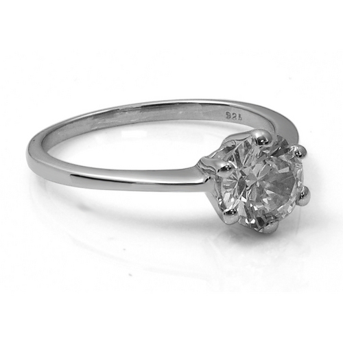 925 silver diamond ring micro pave silver cz ring silver engagement ring