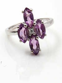925 silver ring with purple stone amethyst and silver rings cool silver rings