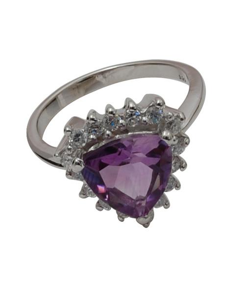 amethyst silver ring silver cz ring silver wedding ring