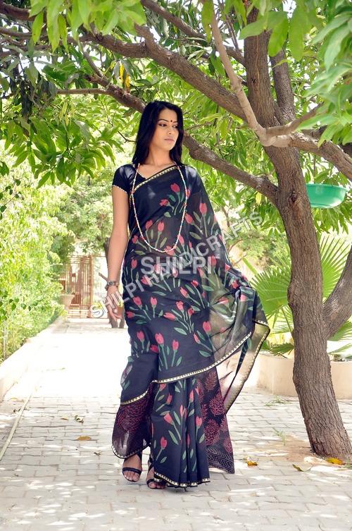 Printed Chanderi Sarees