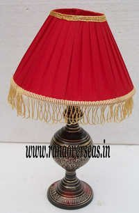 Brass Metal Lamp base with Shade.
