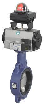 actuator with buterfly valve