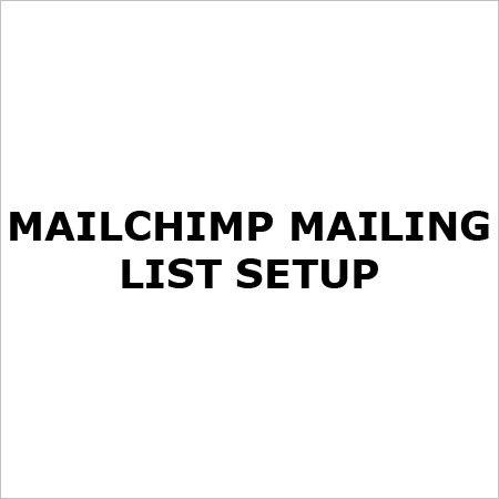 Mailchimp Mailing List Setup